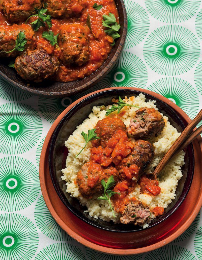 Spiced Moroccan lamb meatballs