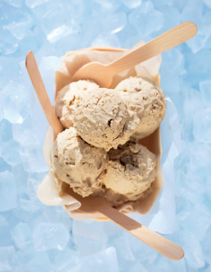 Dairy-free chai cashew nut ice cream