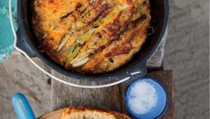Cheese and beer pot bread