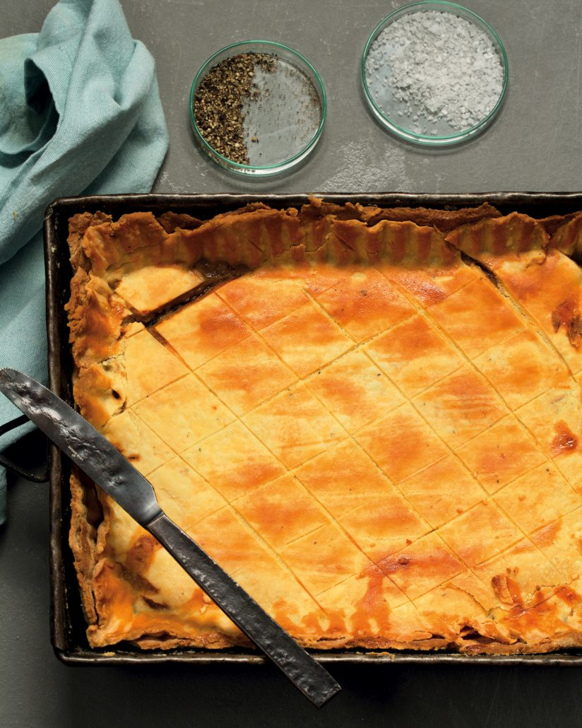 Beef and leek pie