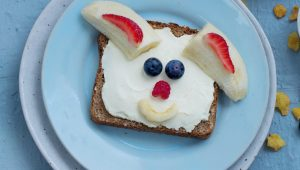 Easter bunny toast