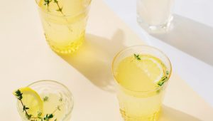 Thyme and tequila lemonade