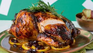 Cranberry and balsamic roast chicken