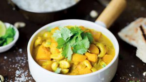 Butternut and cashew nut curry