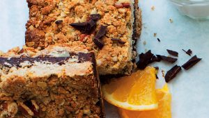 Chocolate-orange rye bars