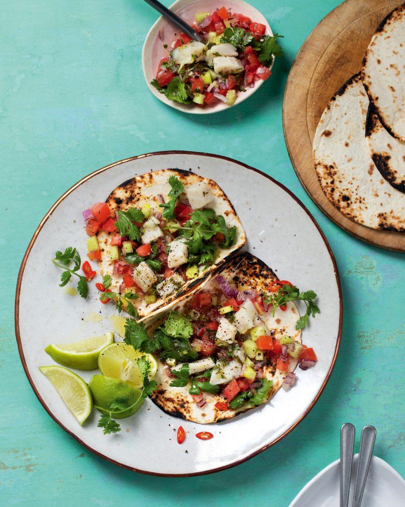 Fish ceviche tacos