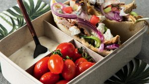 Mediterranean chicken bento box
