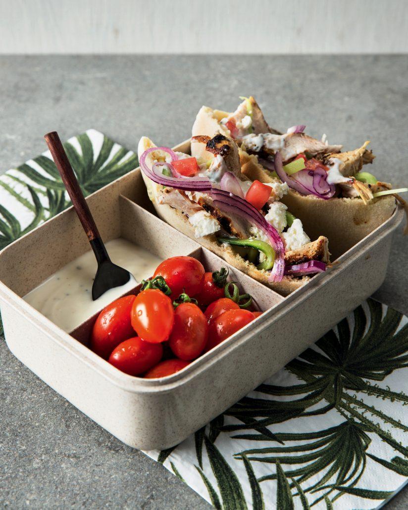 Mediterranean chicken bento box