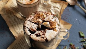 Peppermint crisp hot chocolate