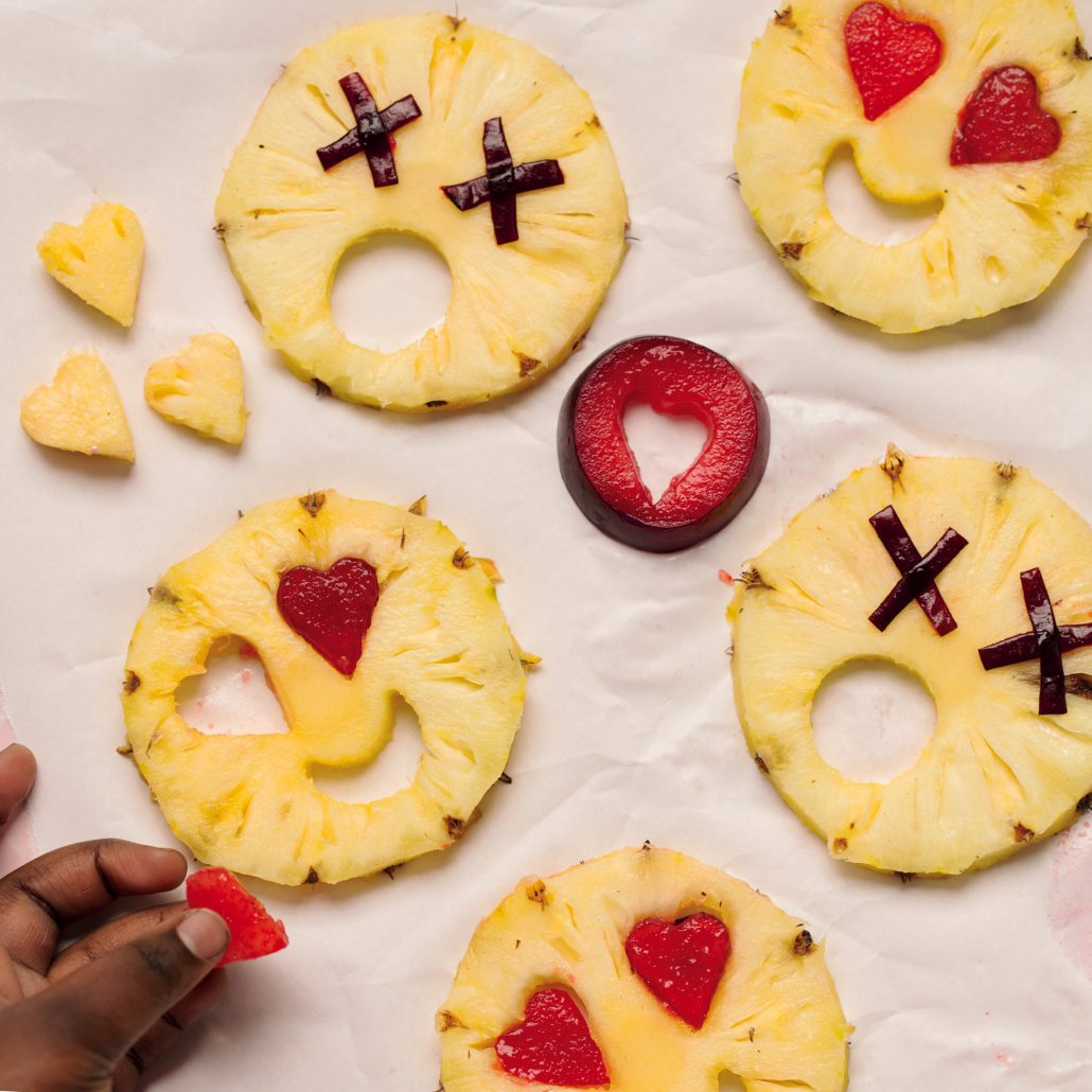 Emoji-inspired fruit snacks