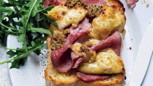 Ham and cheese sarmies with honey mustard