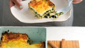 Baby marrow and spinach lasagne
