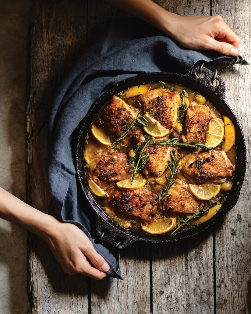 Braised lemon chicken
