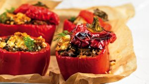 Super stuffed red peppers