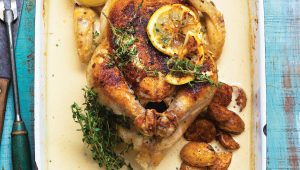 Braised chicken with baby potatoes