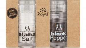 Flavour sensation wherever you are with Royal Salt Micro Grinders