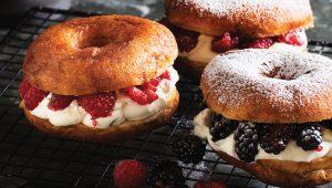 Berry cannoli doughnuts