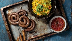 Savoury rice with boerewors