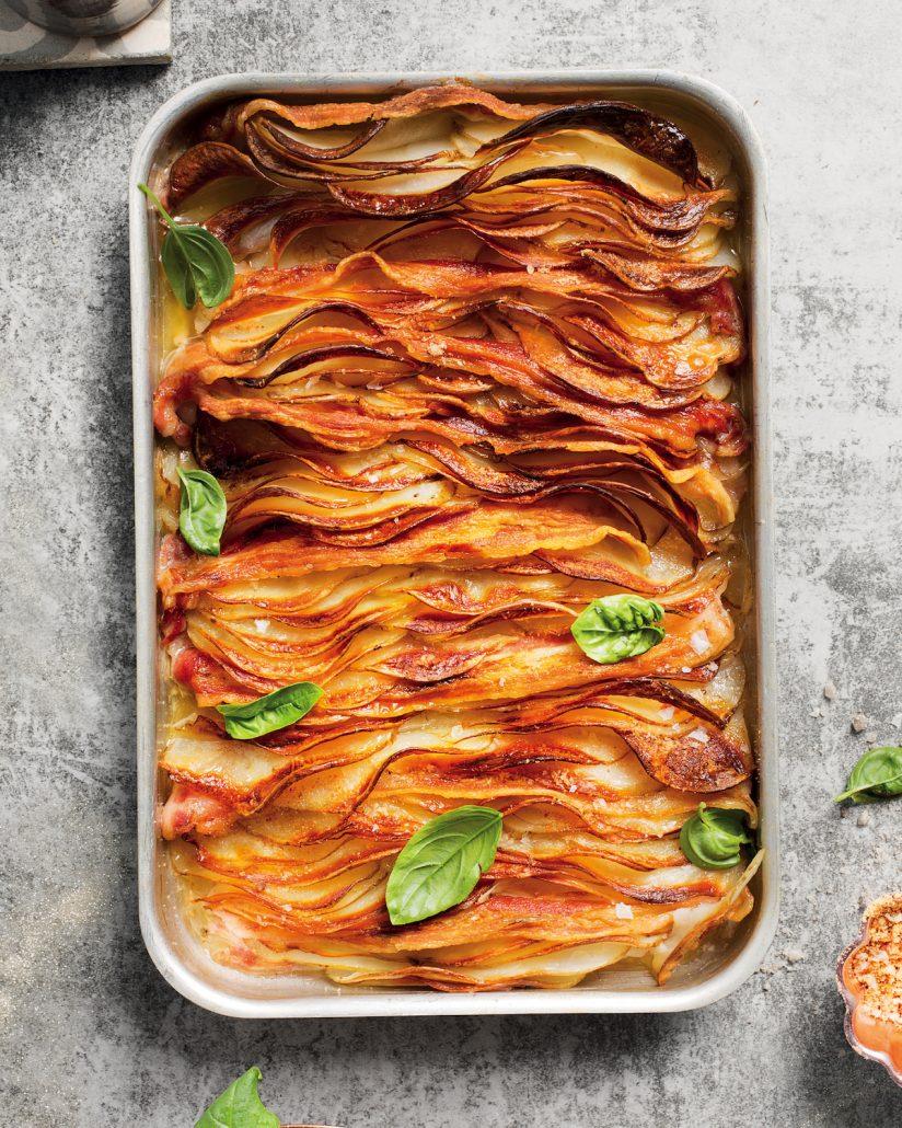 Bacon-salted potato bake