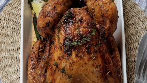 Braaied turkey