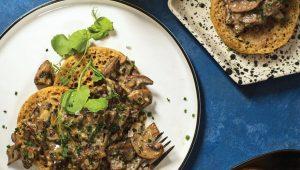 Creamy herbed mushrooms