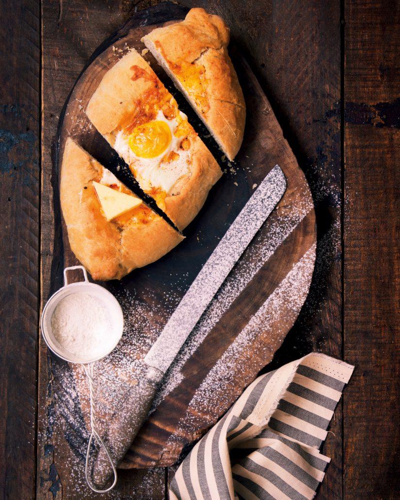 Cheesy bread boats