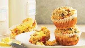 Savoury cheesy muffins