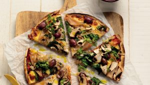 Wholewheat tortilla pizzas