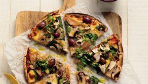 Wholewheat tortilla pizzas