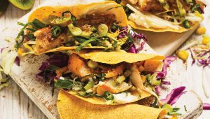 Grilled hake tacos