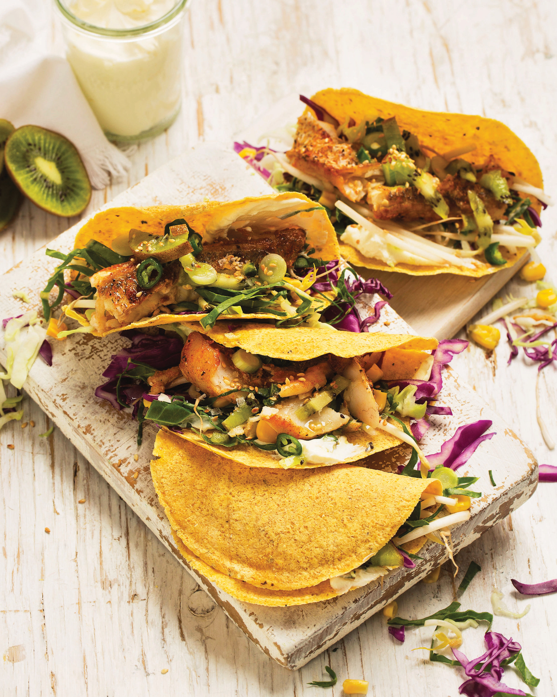 Grilled hake tacos