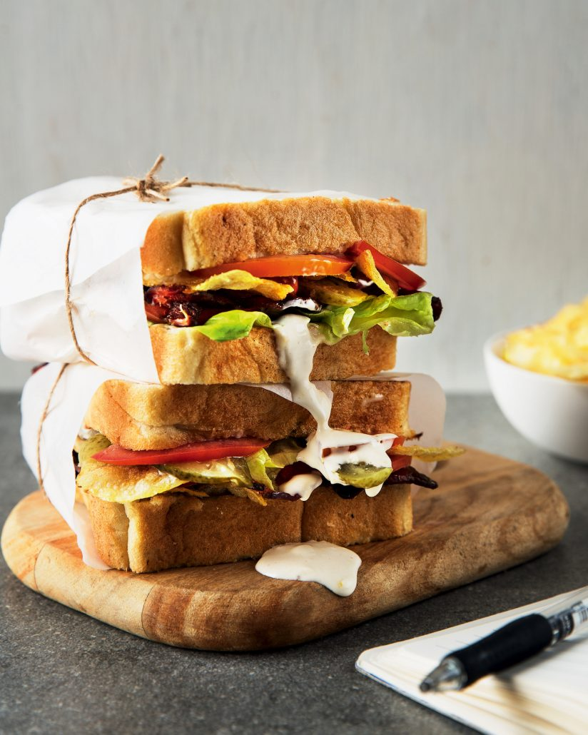 Loaded BLT and chip sandwich