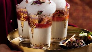 Rose-water milk pudding