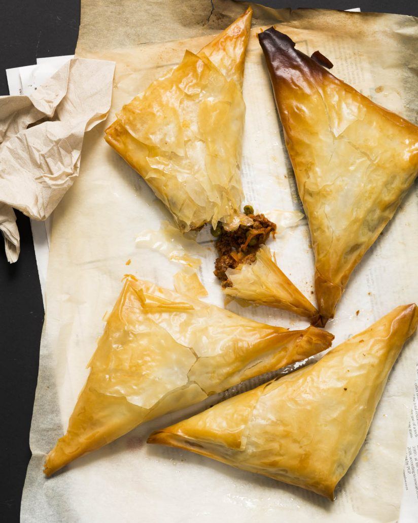 Beefy baked samoosas