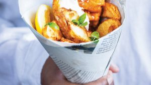Cook the cover: Fish and chips