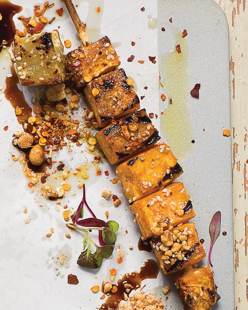 Indonesian sweet potato kebabs