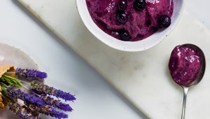 Lavender-berry nice cream