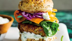Rice and red kidney bean burgers