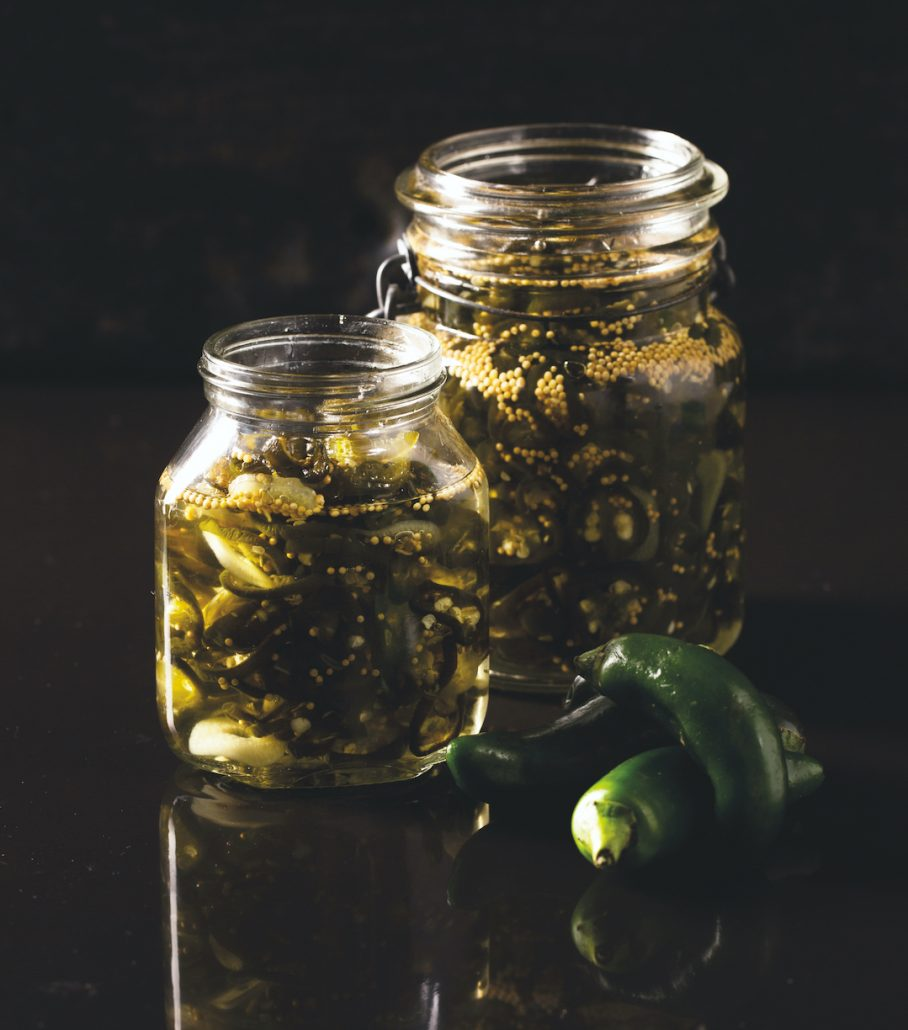 Candied jalapeño chillies