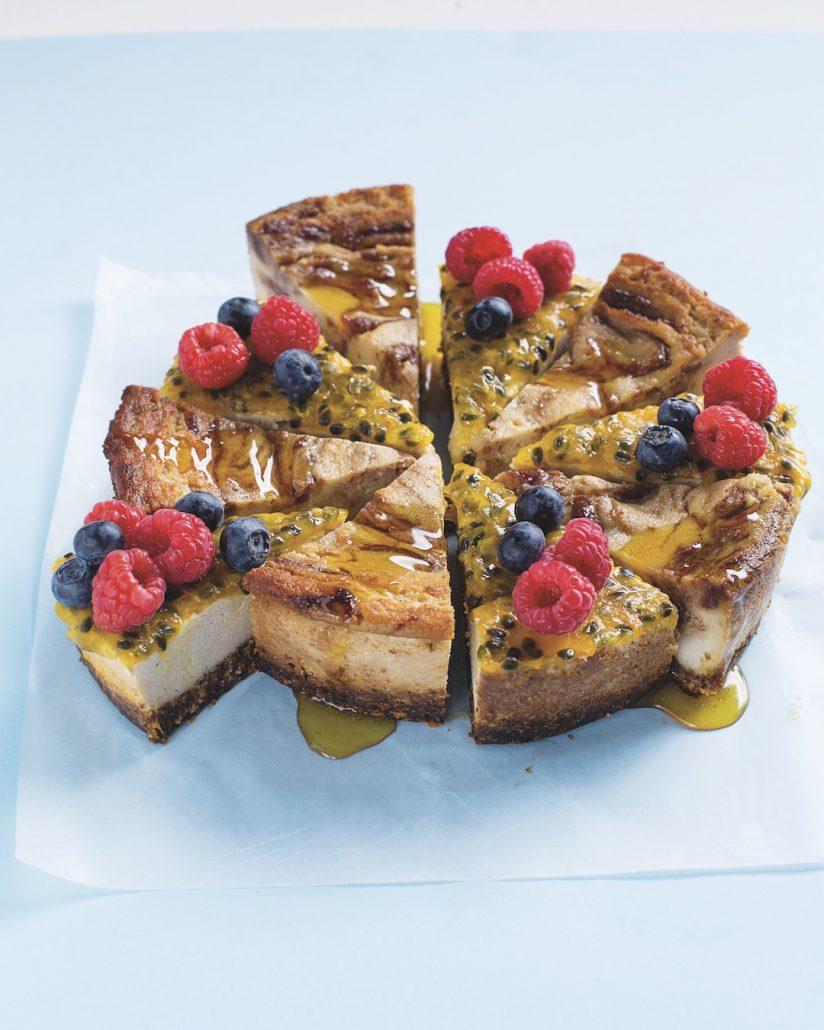 Date Swirl Granadilla Cheesecake 2