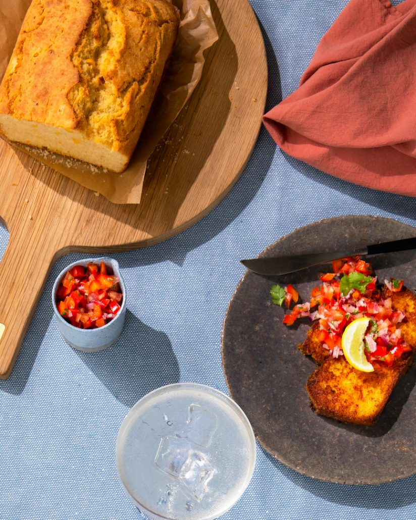 Cornbread French Toast With Salsa
