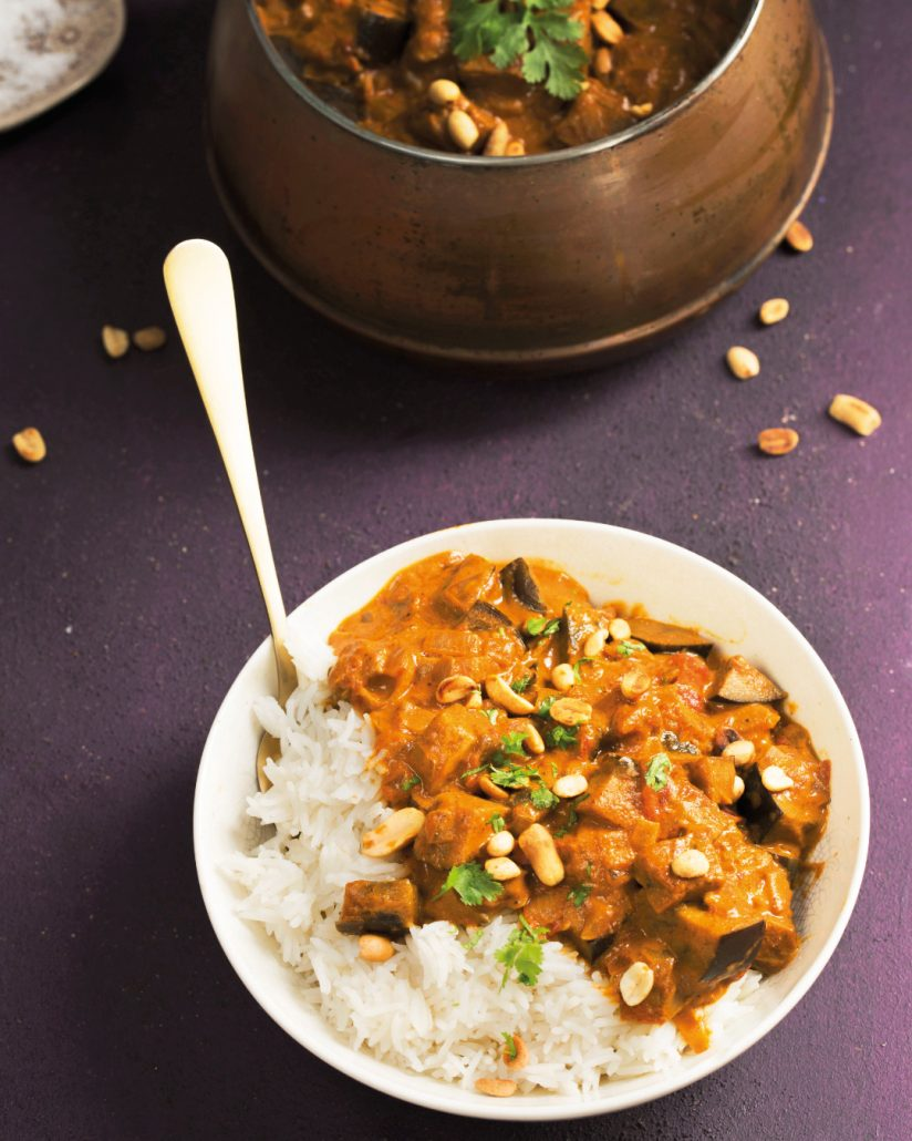 quick brinjal curry