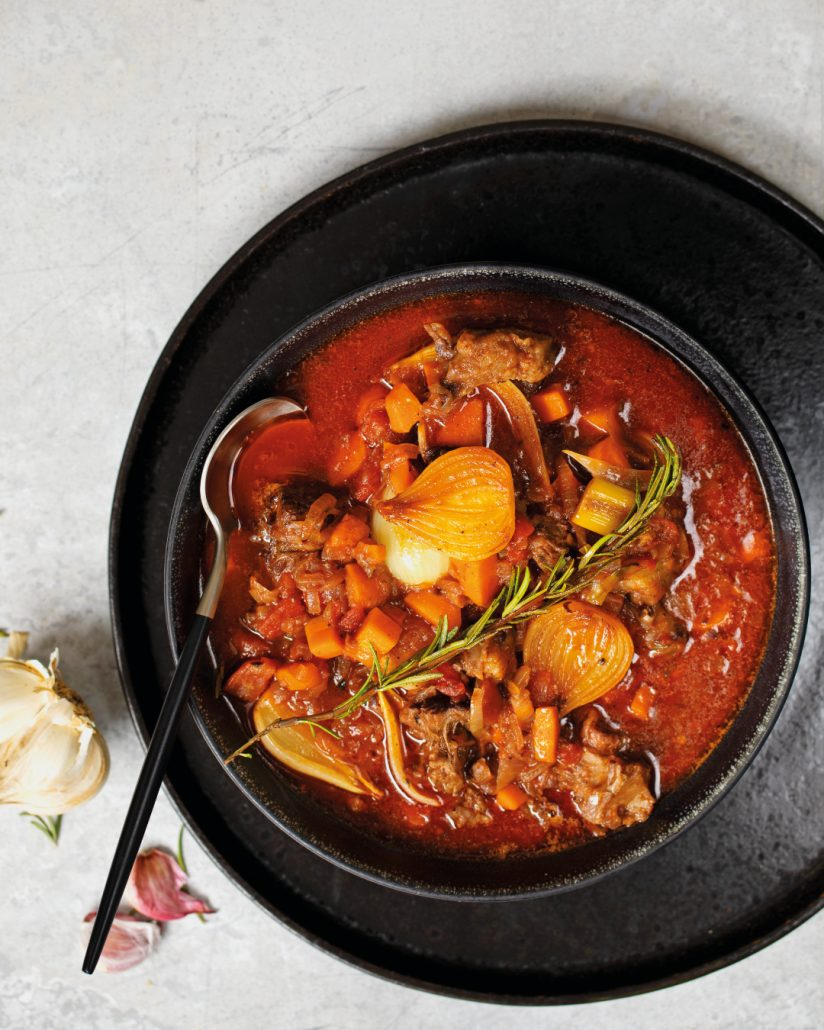 tomato-based oxtail soup