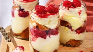 lemon and berry trifles